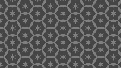 Dark Grey Star Pattern Background