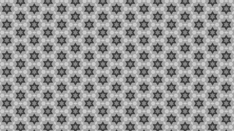 Grey Seamless Star Pattern