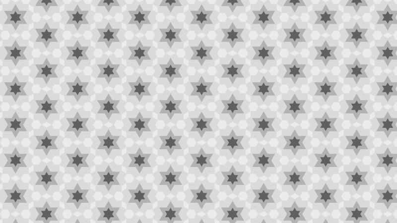 Grey Seamless Star Pattern Background