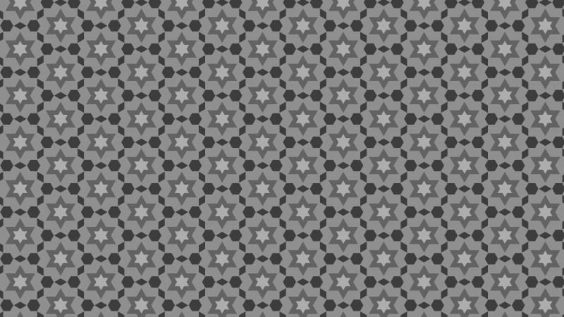 Dark Grey Seamless Star Background Pattern
