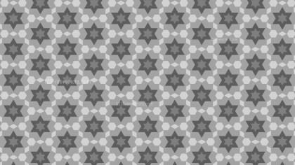Grey Stars Pattern Background