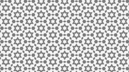 Grey Stars Background Pattern