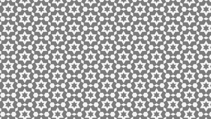Grey Seamless Stars Pattern