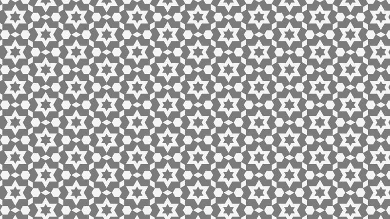 Grey Seamless Stars Pattern