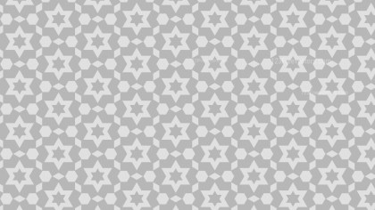 Light Grey Seamless Stars Background Pattern