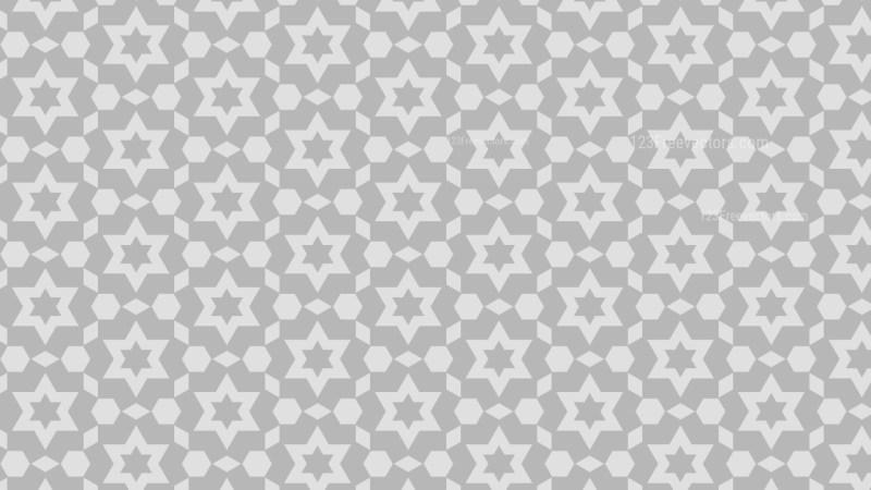 Light Grey Seamless Stars Background Pattern