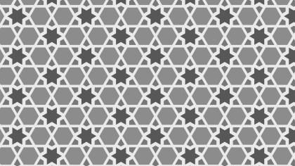 Grey Star Pattern Background Vector Art