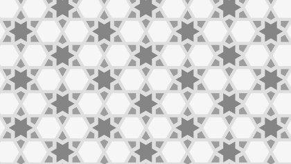 Grey Star Background Pattern Graphic