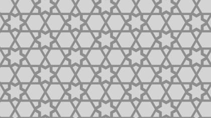 Grey Seamless Star Pattern Illustration