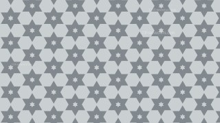 Grey Seamless Star Pattern Background Design
