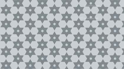 Grey Seamless Star Pattern Background Design