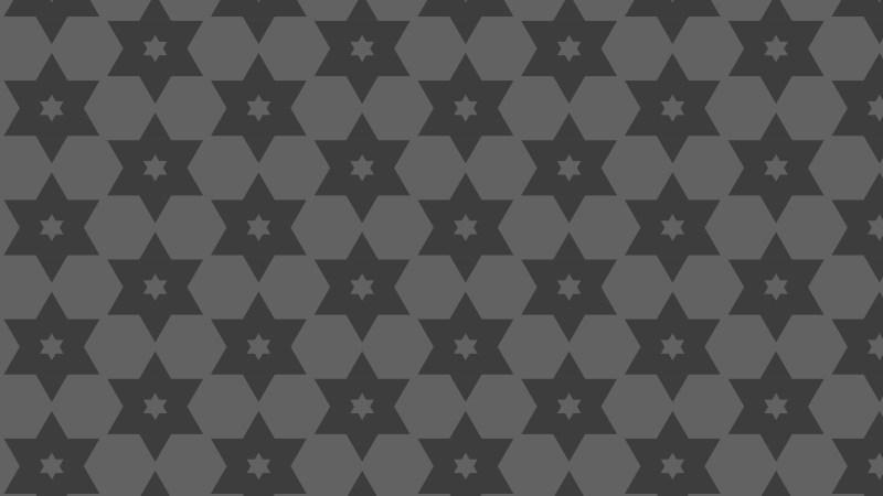 Dark Grey Stars Pattern Vector Graphic
