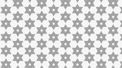 Grey Stars Pattern Background Vector Image
