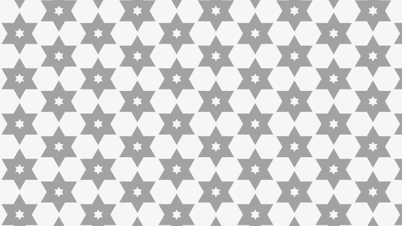 Grey Stars Pattern Background Vector Image