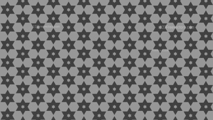 Dark Grey Stars Background Pattern Illustrator