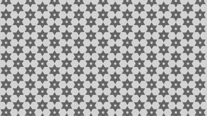 Grey Seamless Stars Pattern Vector Illustration