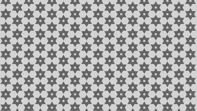 Grey Seamless Stars Pattern Vector Illustration
