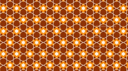 Dark Orange Seamless Stars Pattern Background Vector