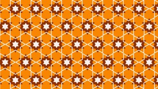Orange Seamless Stars Background Pattern Vector Art