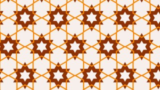 Orange Star Pattern Background