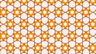 Orange Star Background Pattern