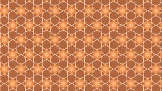 Orange Seamless Star Background Pattern