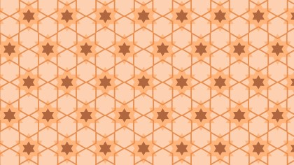Orange Stars Background Pattern