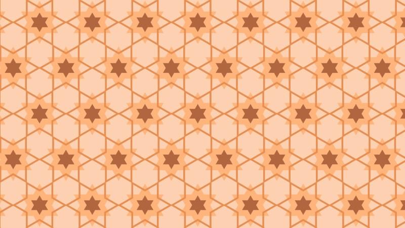 Orange Stars Background Pattern