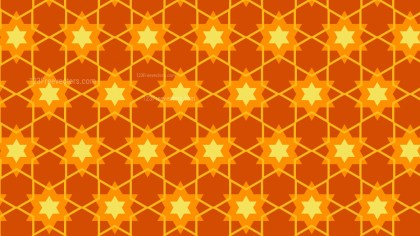 Orange Seamless Stars Pattern Background