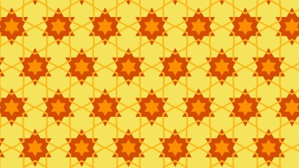 Orange Star Pattern Design