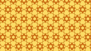 Amber Color Star Pattern Background Image