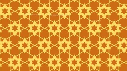 Orange Star Background Pattern Vector Graphic