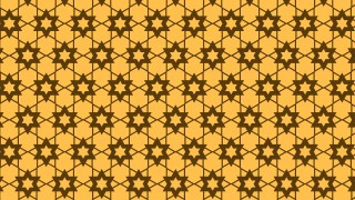 Amber Color Seamless Star Pattern Vector Image