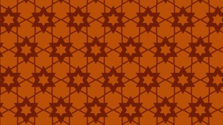 Dark Orange Seamless Star Background Pattern Vector Illustration