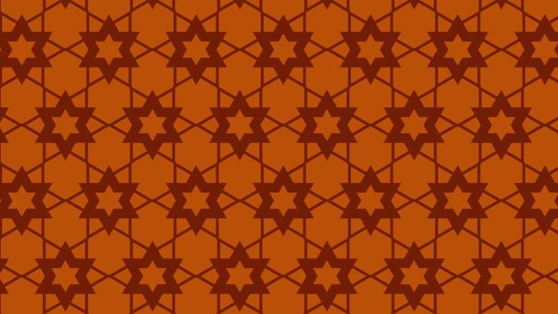 Dark Orange Seamless Star Background Pattern Vector Illustration