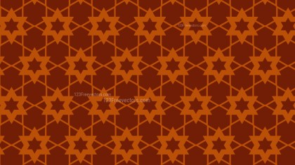 Dark Orange Stars Pattern Vector