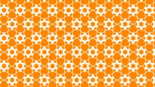 Orange Seamless Stars Pattern Background Design