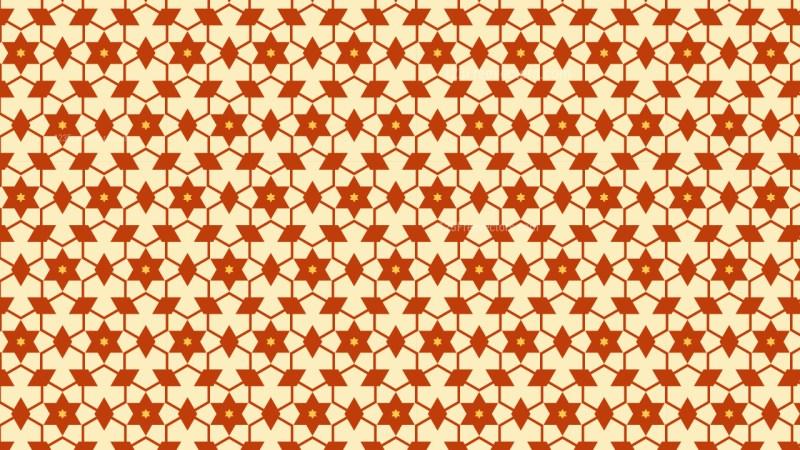Orange Star Background Pattern