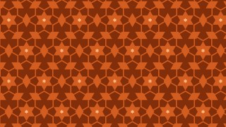 Dark Orange Seamless Star Pattern