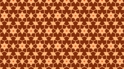 Dark Orange Seamless Star Background Pattern