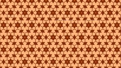 Orange Stars Pattern