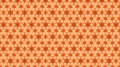 Orange Stars Pattern Background