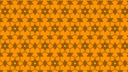Orange Seamless Stars Pattern