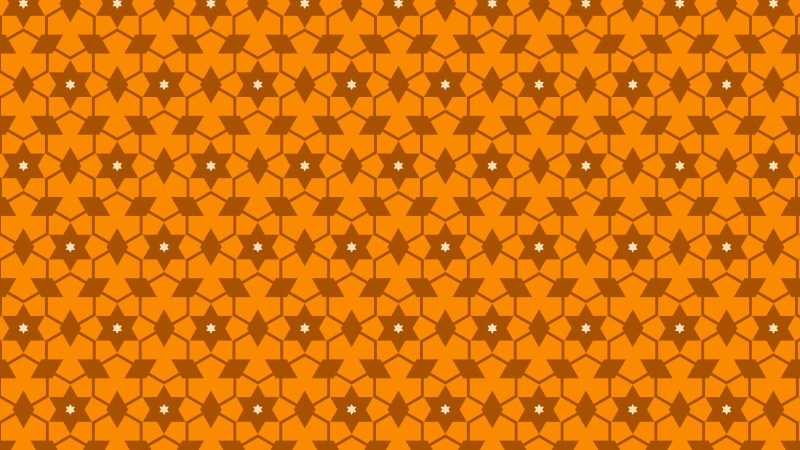 Orange Star Pattern Illustrator