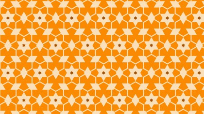 Orange Star Pattern Background Vector Illustration