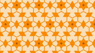 Orange Star Background Pattern Vector