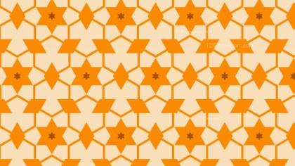 Orange Star Background Pattern Vector
