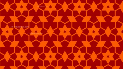 Dark Orange Stars Pattern Design