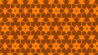 Dark Orange Stars Background Pattern Vector Graphic