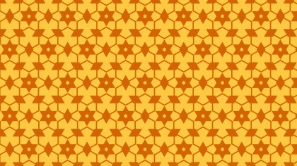 Amber Color Seamless Stars Pattern Vector Image